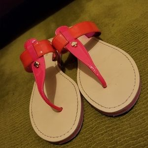 Auth KATE SPADE 2 Toned Strap Sandals-9M
